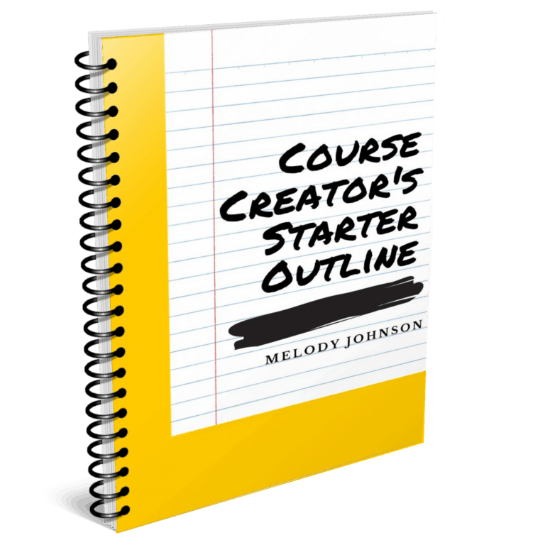 Course Creators Starter Outline Ebook Cover