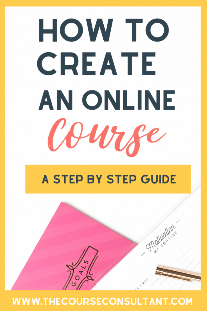 Step by step online course creation