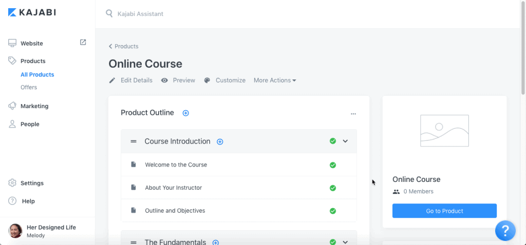 kajabi online course host