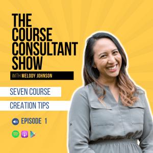 Seven Course Creation Tips